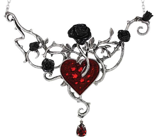 Alchemy Gothic Bed Of Blood Roses - Necklace