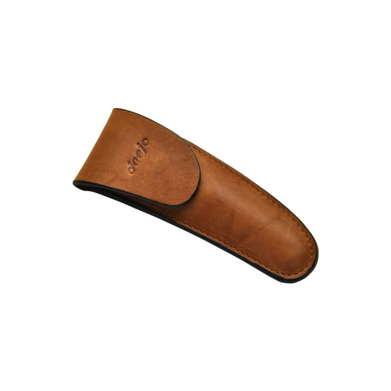 Deejo Leather Sheath for belt ,  37g Natural
